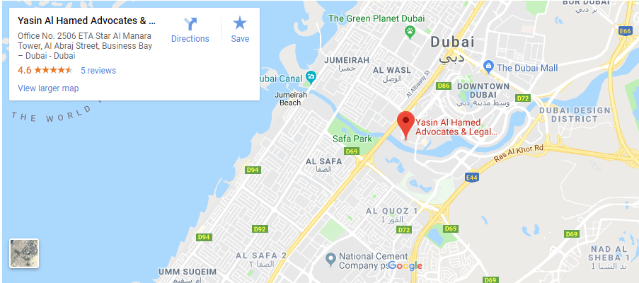 location-map yasin al hamed best law firm in dubai uae